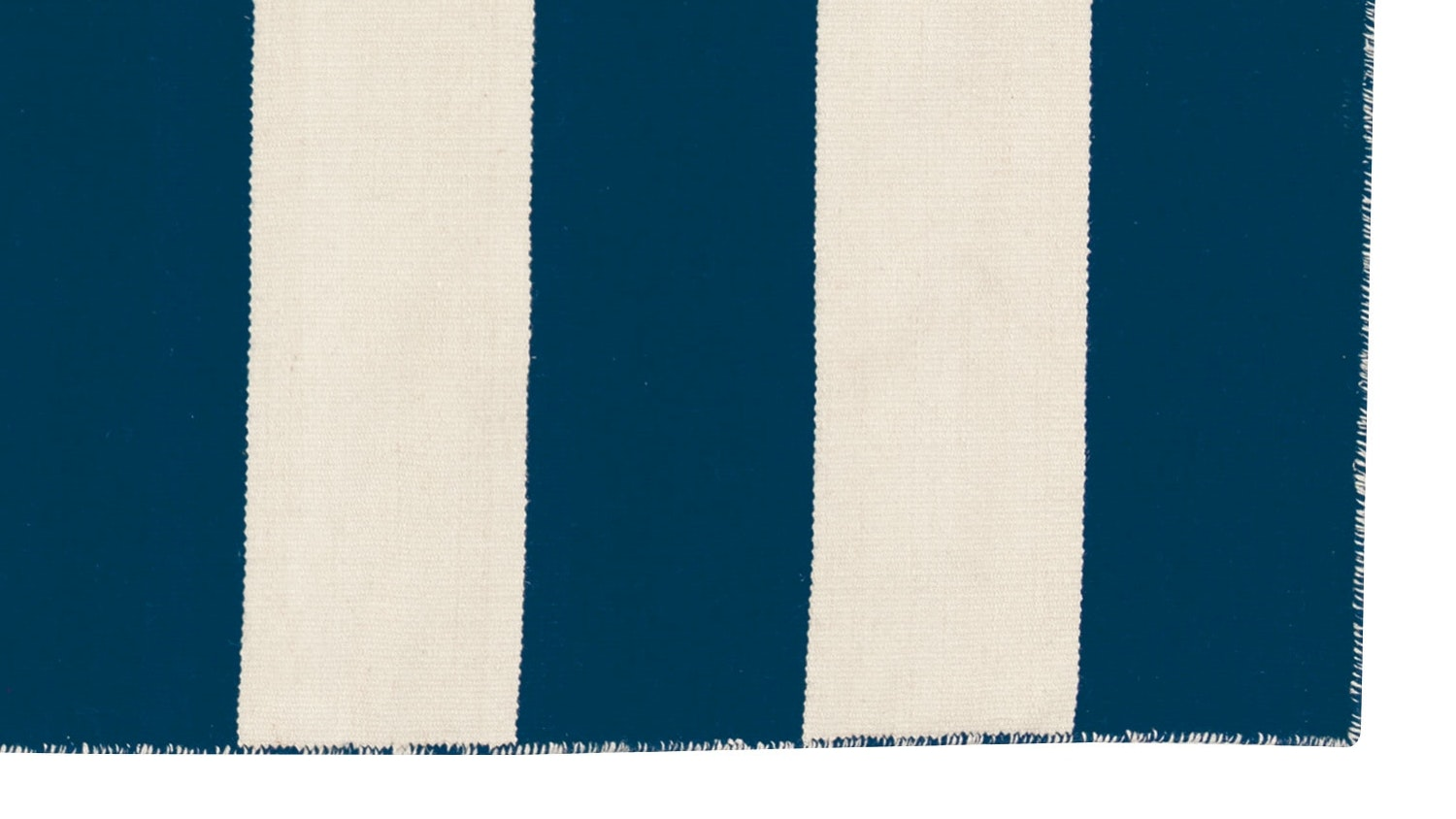 Anywhere Bold Stripe Flat Weave Rug - White & Navy