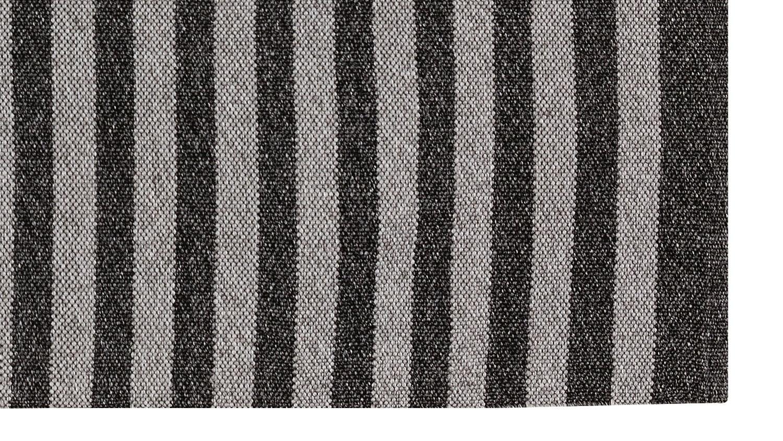 Anywhere Flat Weave Stripe Rug - Grey & Gun Metal