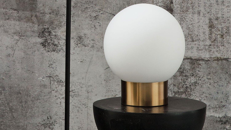 Zena frost ball table lamp domayne zena frost ball table lamp aloadofball Gallery