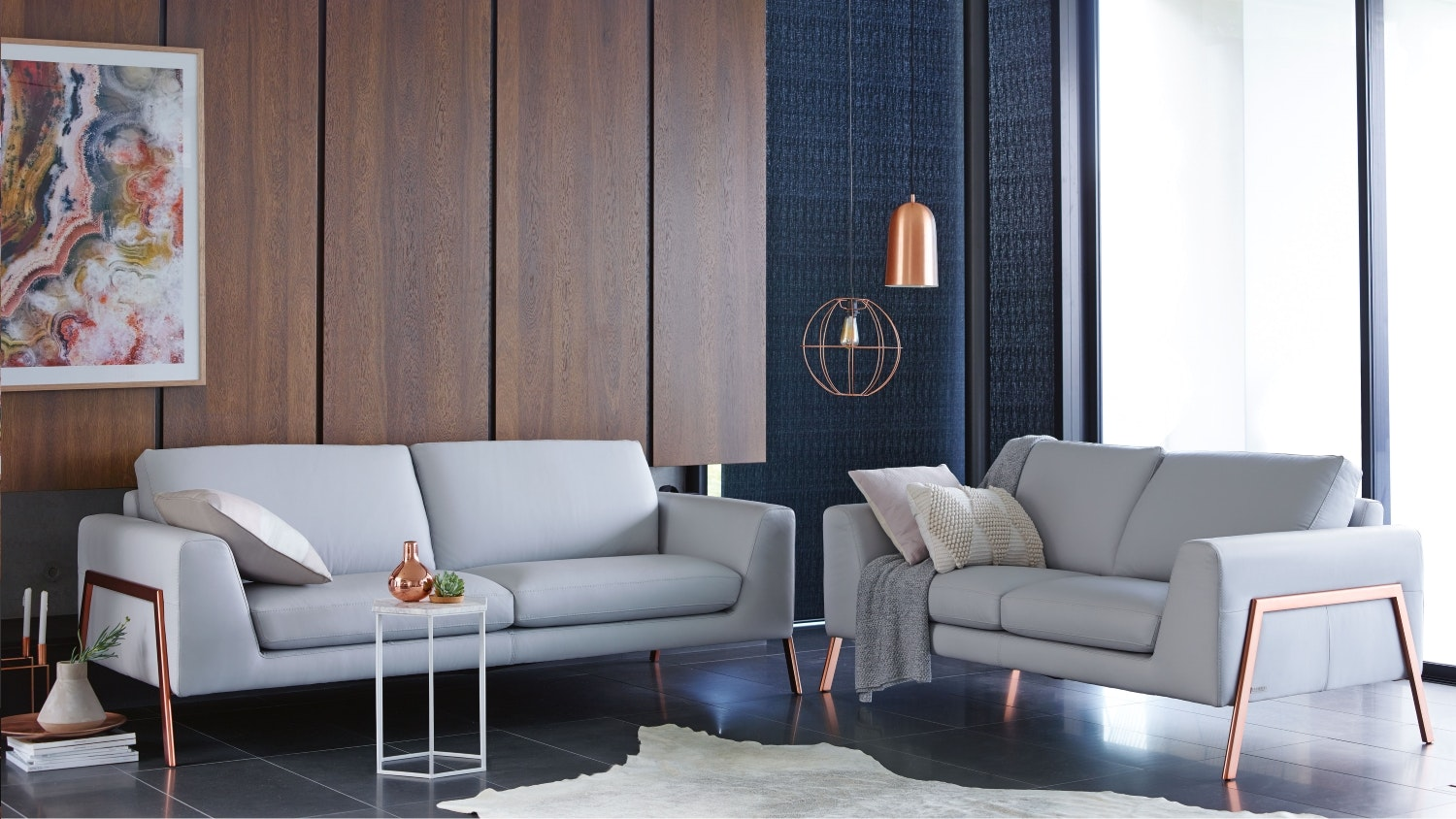 Trista 3 Seater + 2 Seater Leather Sofa Package