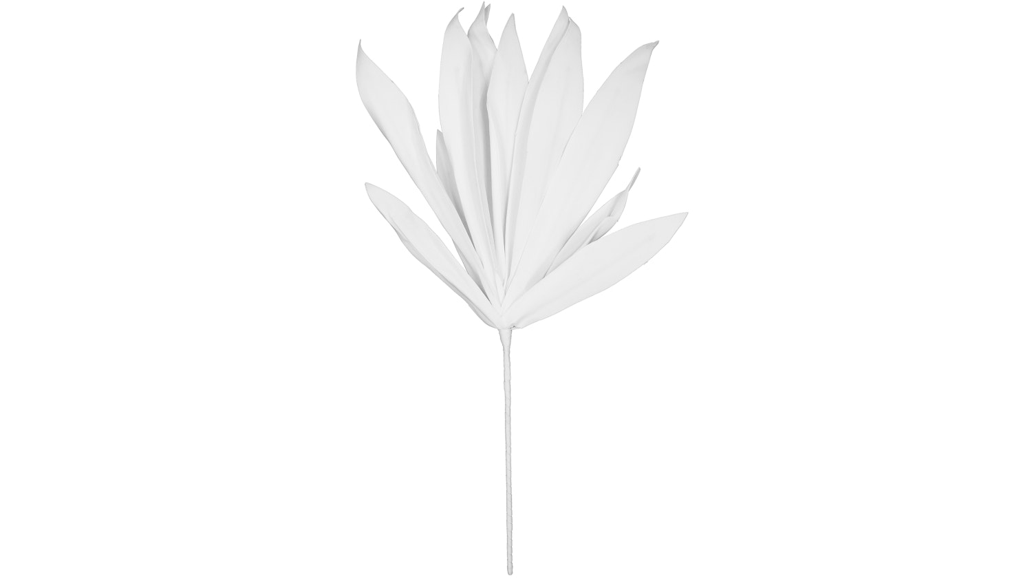 Leaves Stem Faux Plant - White