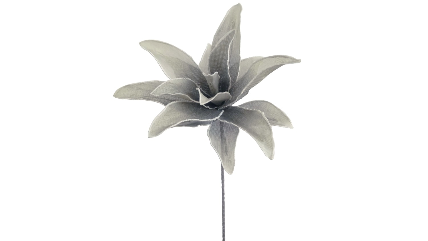 Lily Stem Faux Plant - Grey