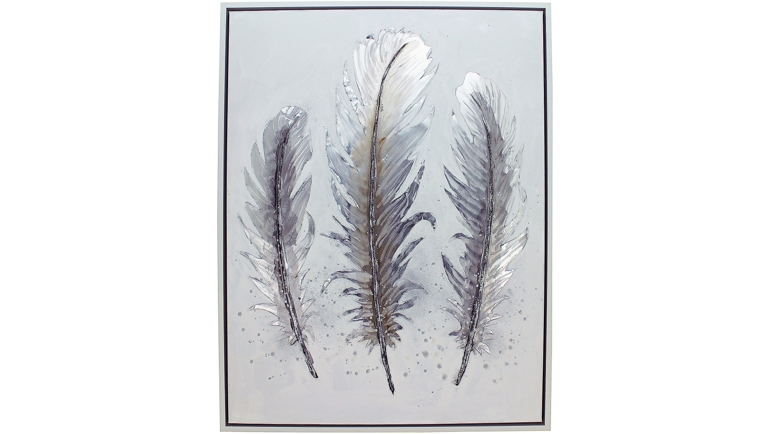 Feathers Metal Framed Wall Art