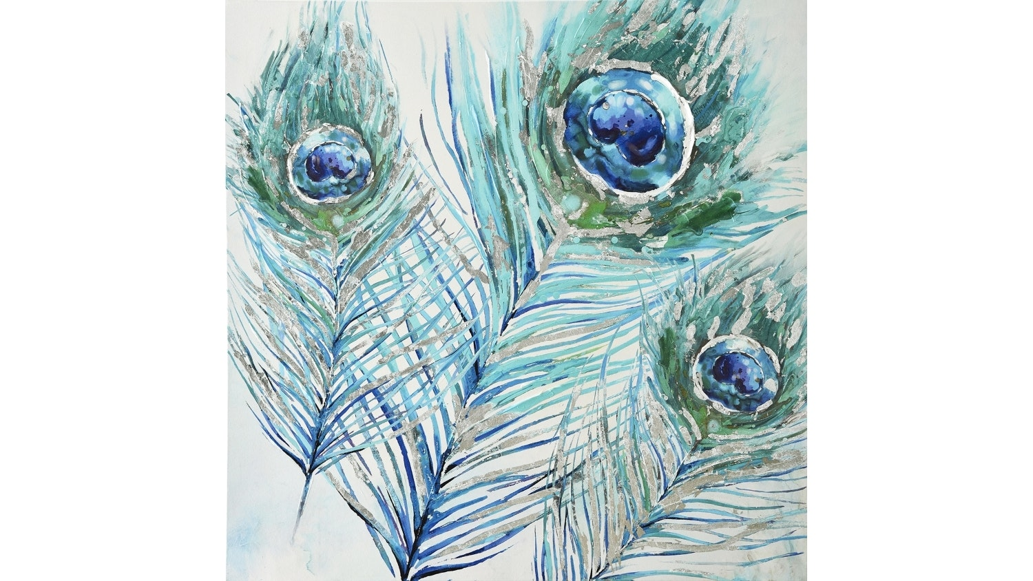 Peacock Feathers Canvas Oil Painting