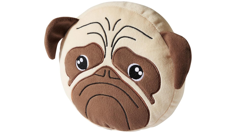 Hiccups Pug Dog Novelty Cushion