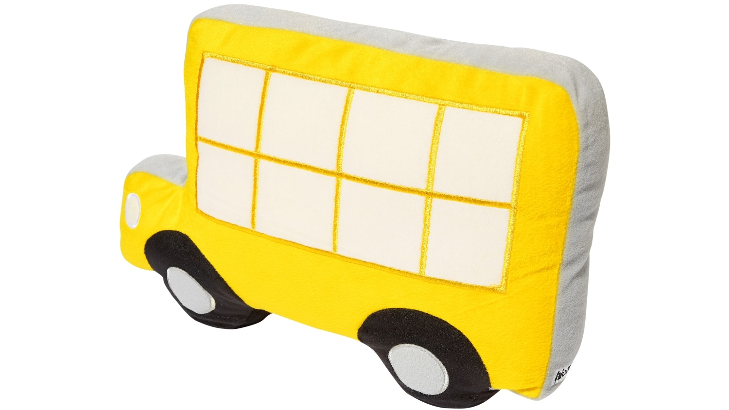 Hiccups Town Bus Novelty Cushion - Yellow & Blue