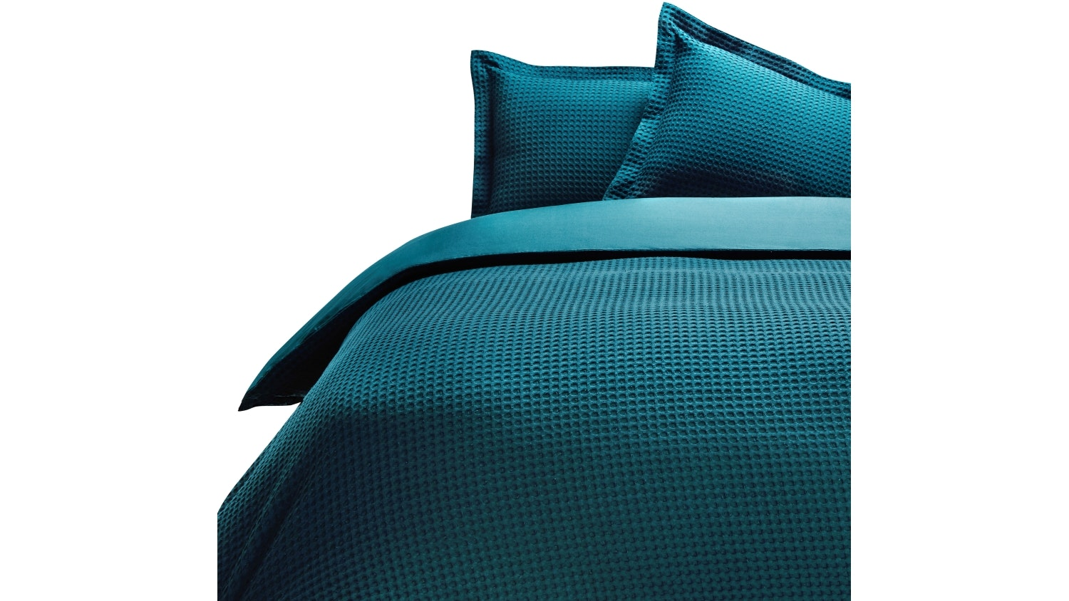 Linen House Deluxe Waffle Teal Quilt Cover Set