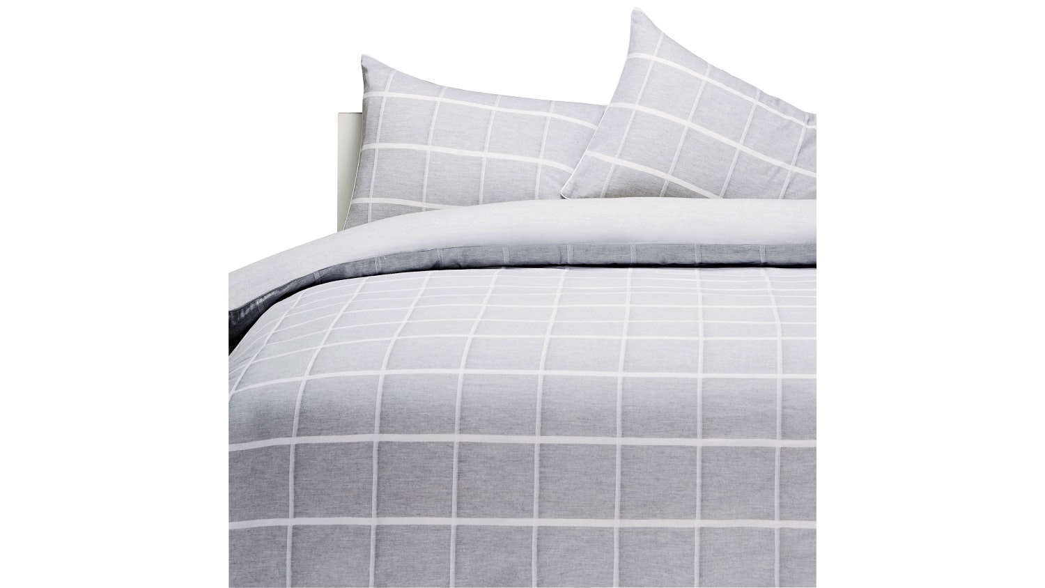 Linen House Leonard Grey Quilt Cover Set