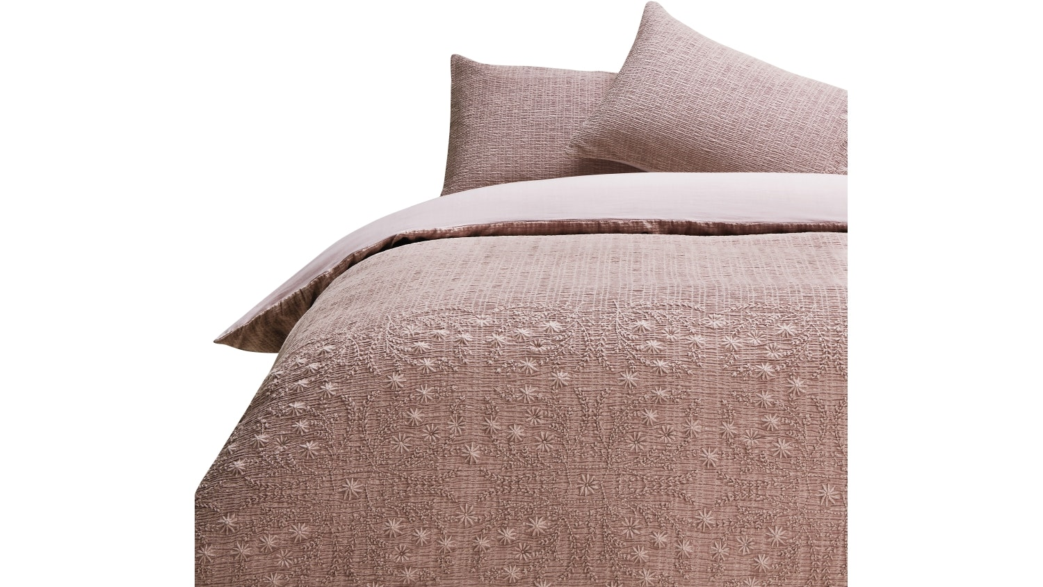 Linen House Abigail Pink Quilt Cover Set