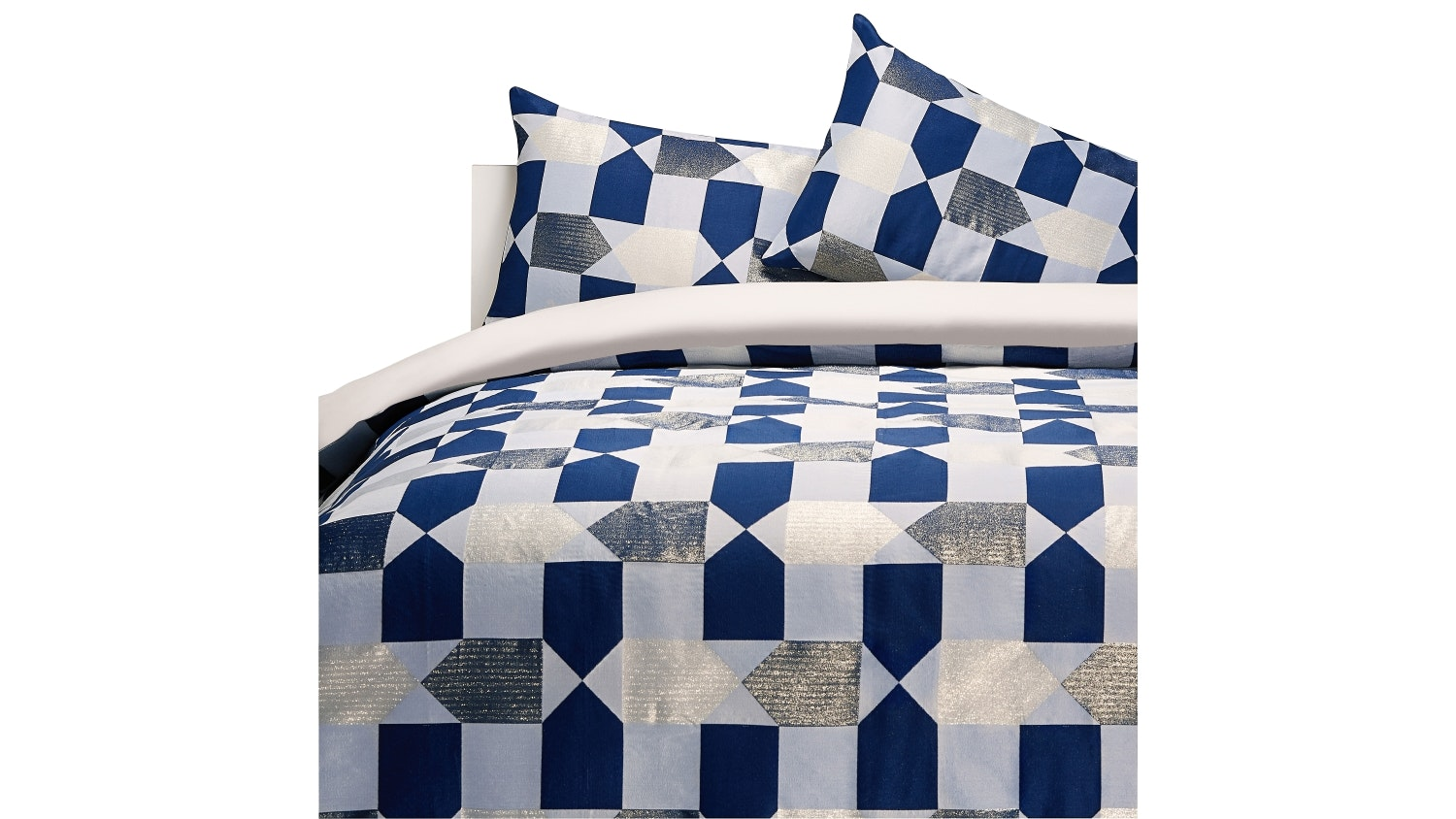 Linen House Fabiano Navy Quilt Cover Set