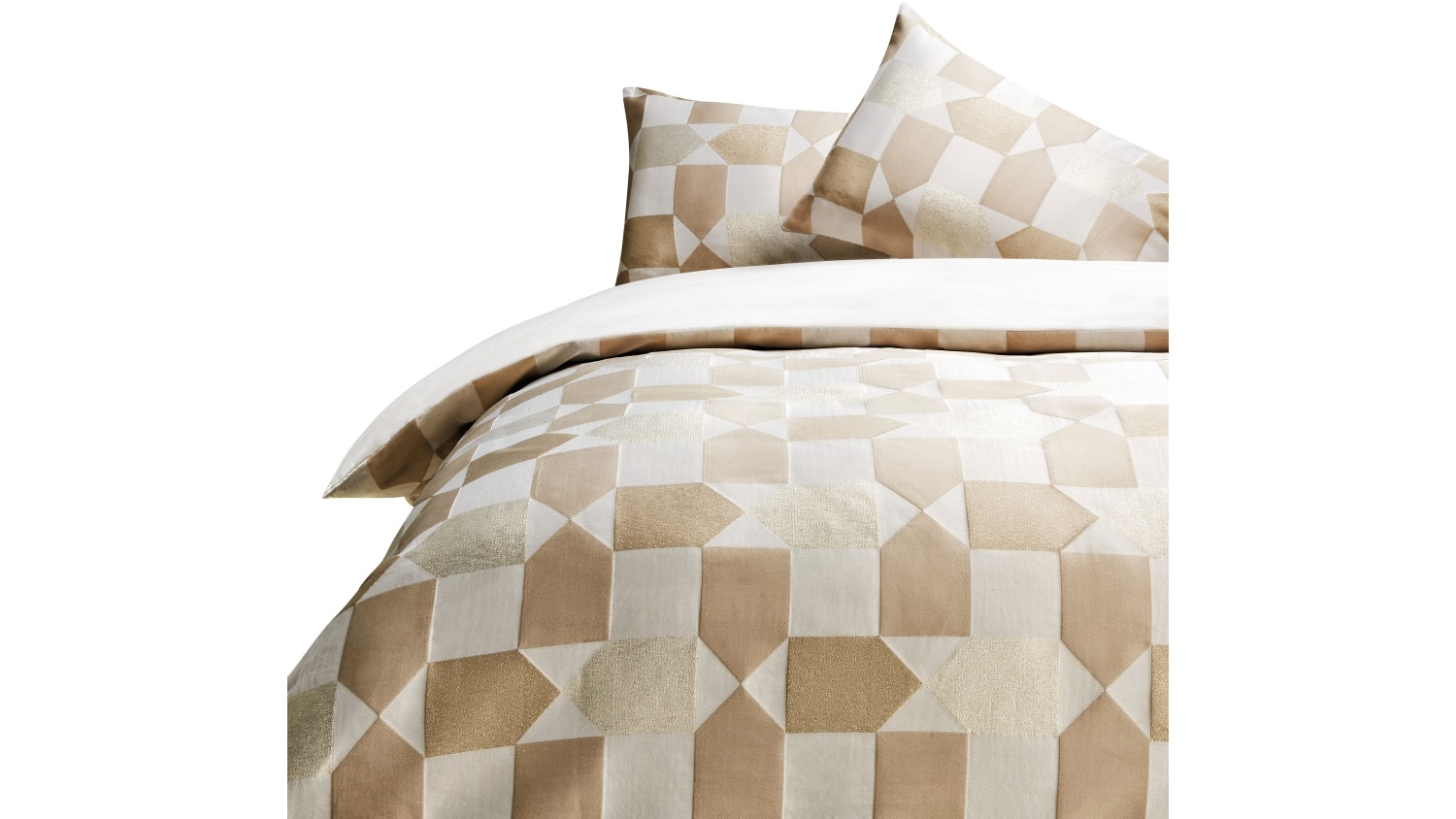 Linen House Fabiano Neutral Quilt Cover Set