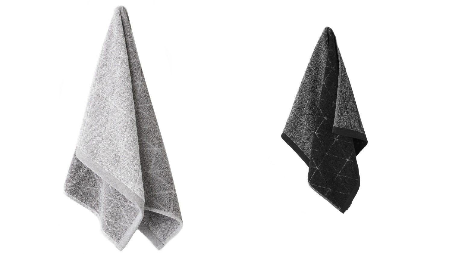 Aura Chambray Diamond Hand Towel