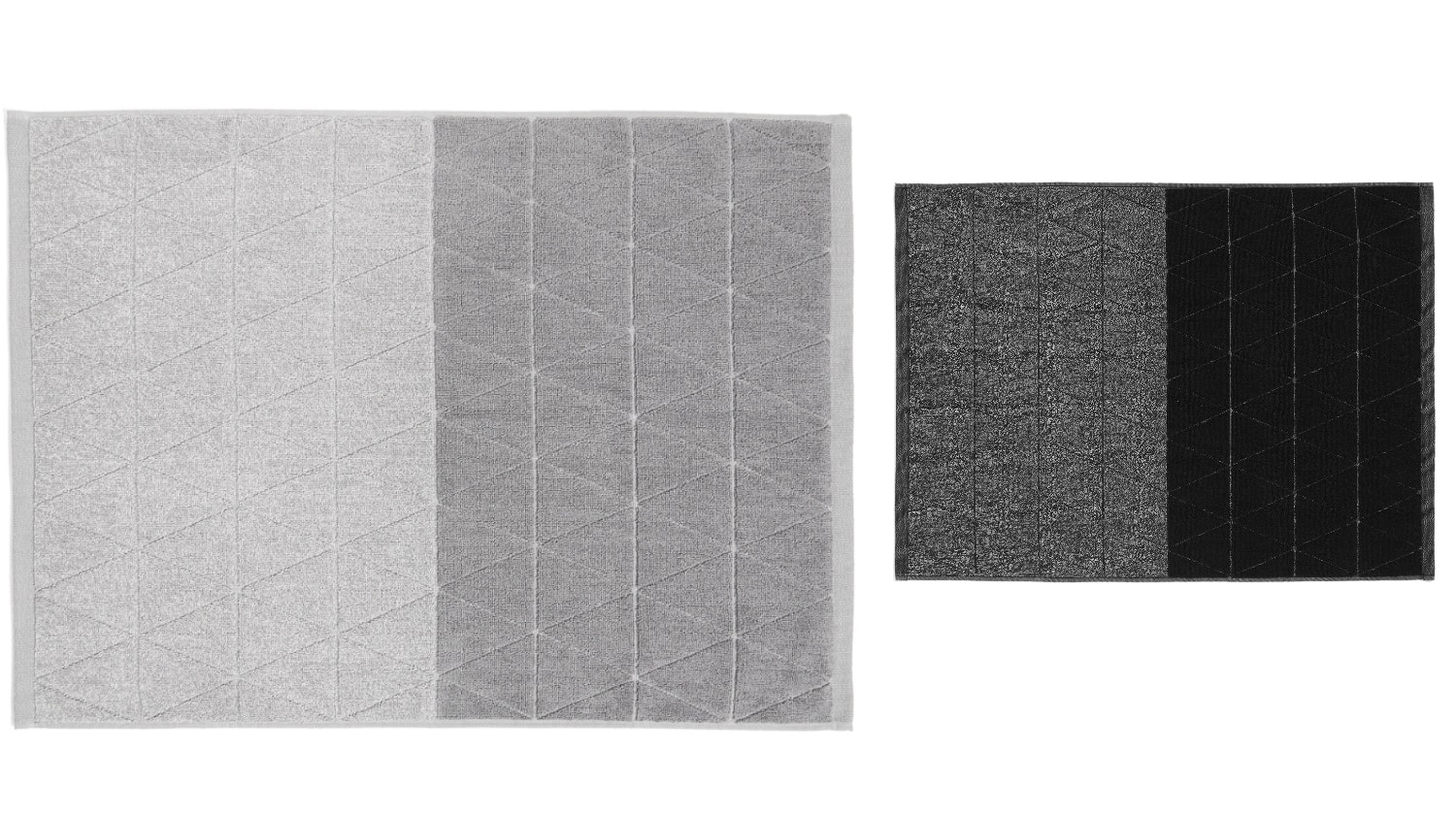Aura Chambray Diamond Bath Mat
