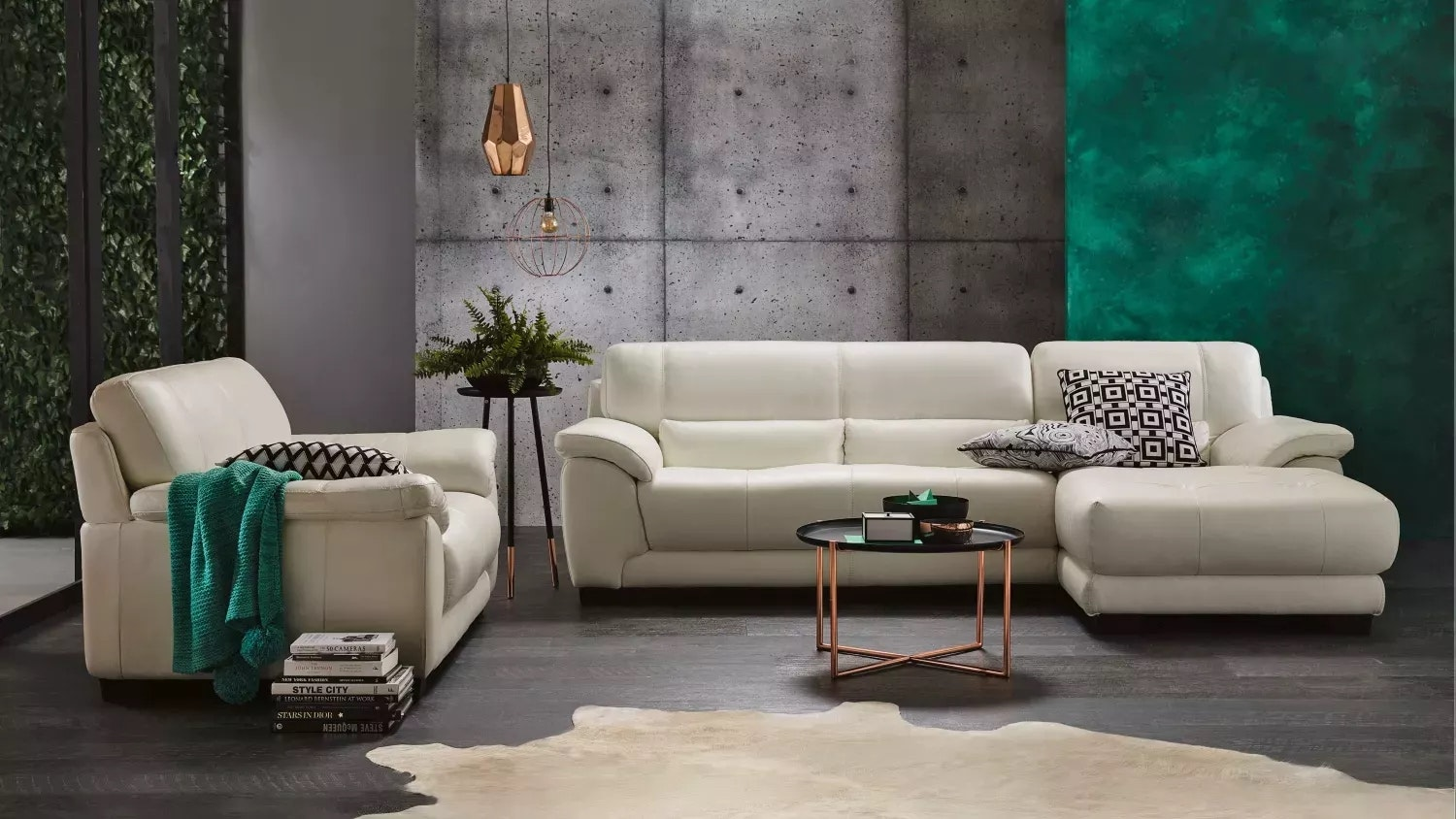 Longbeach Leather Sofa