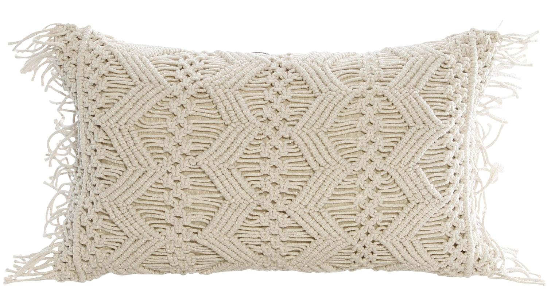 Betsy Macrame Rectangular Cushion