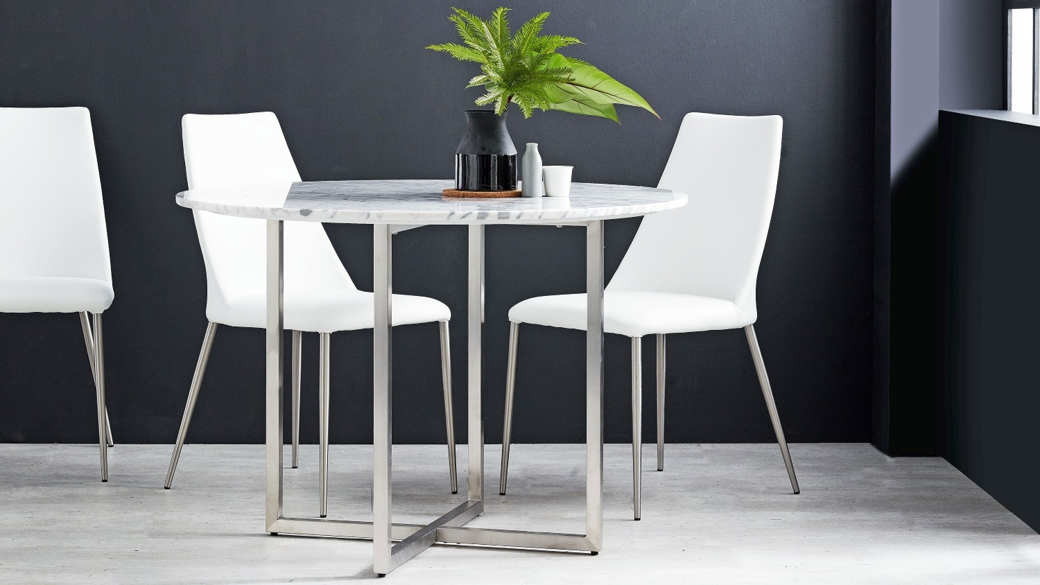Alessie Round Marble Dining Table