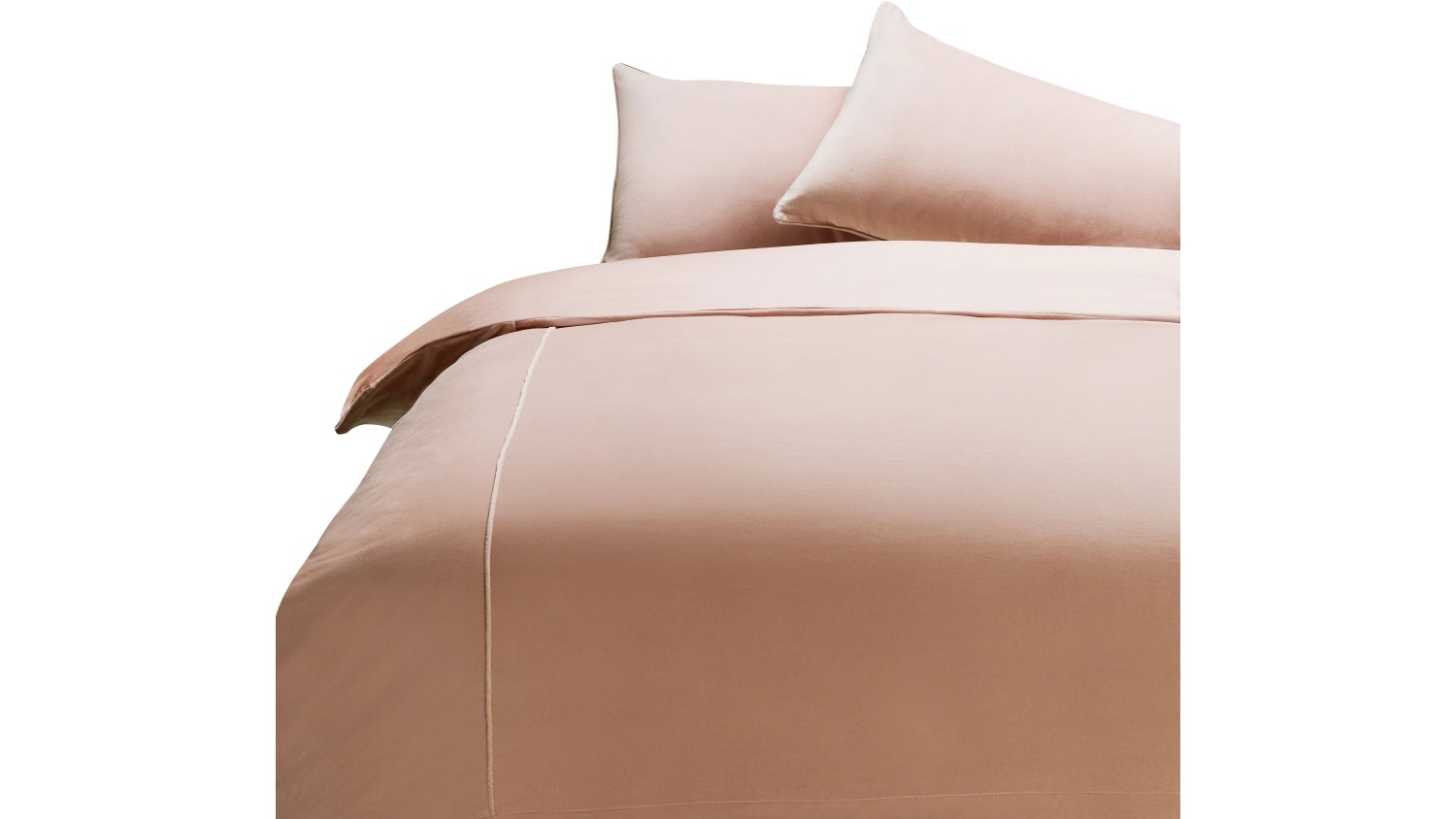 Domayne Luxuries Cotton Velvet Pink Quilt Cover Set