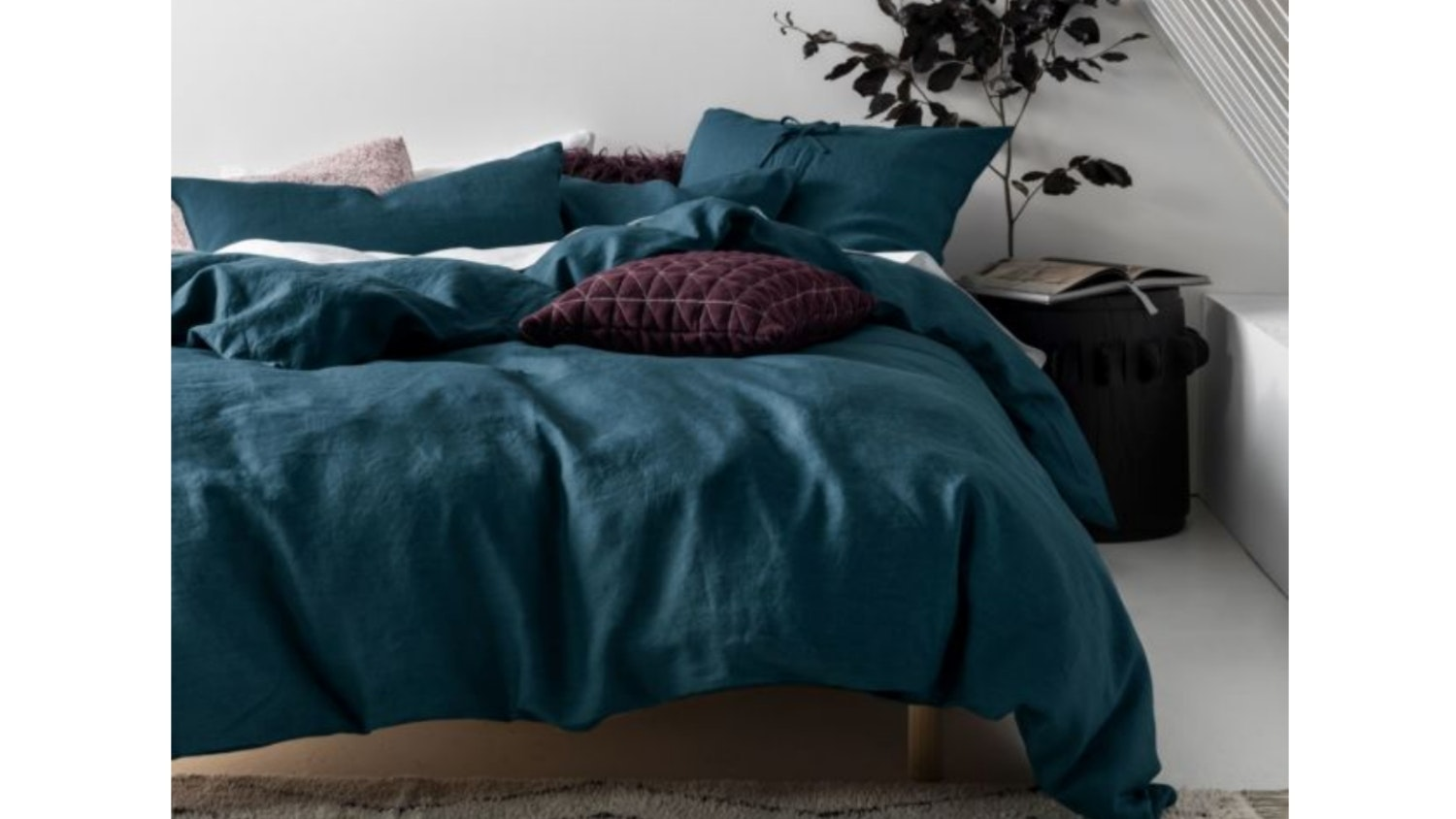 Linen House Nimes Teal Quilt Cover Set