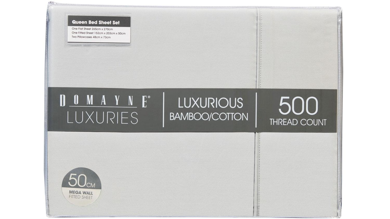 Domayne Luxuries 500TC Silver Sheet Set