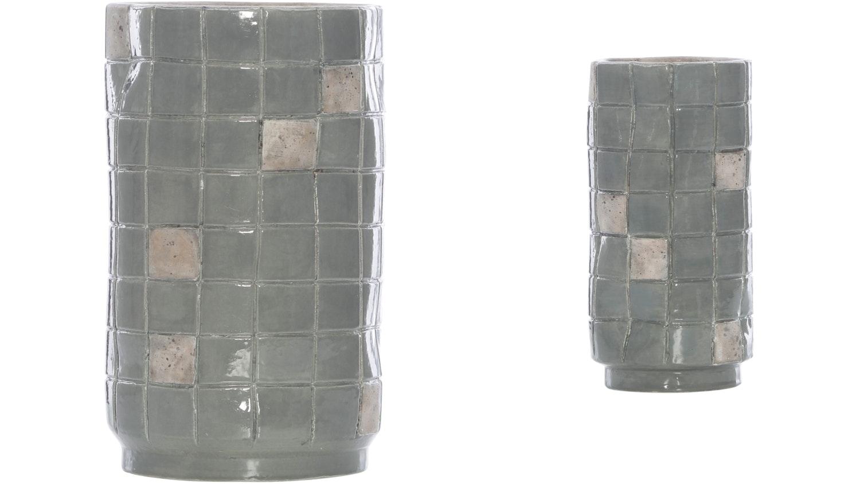 Nomad Check Terracotta Vase