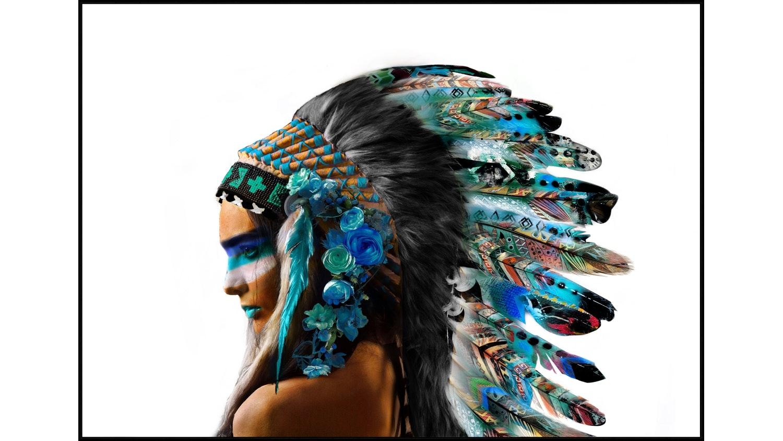 Native Princess Framed Canvas Print