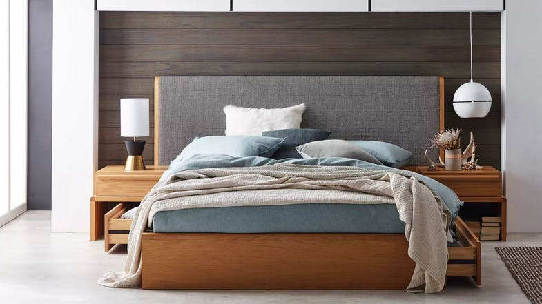 Killarney extended bedhead domayne - Table that attaches to bed ...