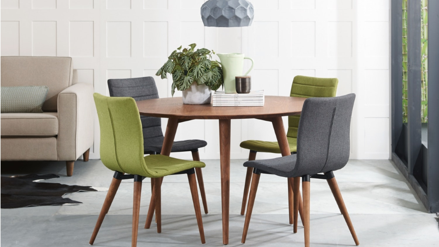 Marli Dining Chair with Walnut Finished Legs