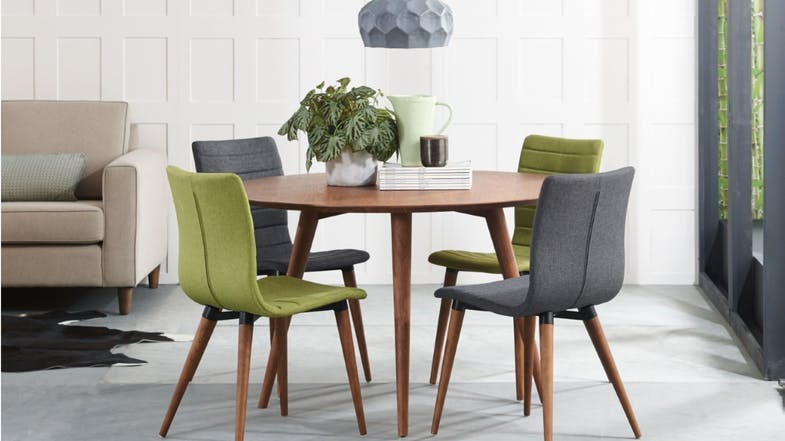 Marli Dining Chair With Walnut Finished Legs Domayne