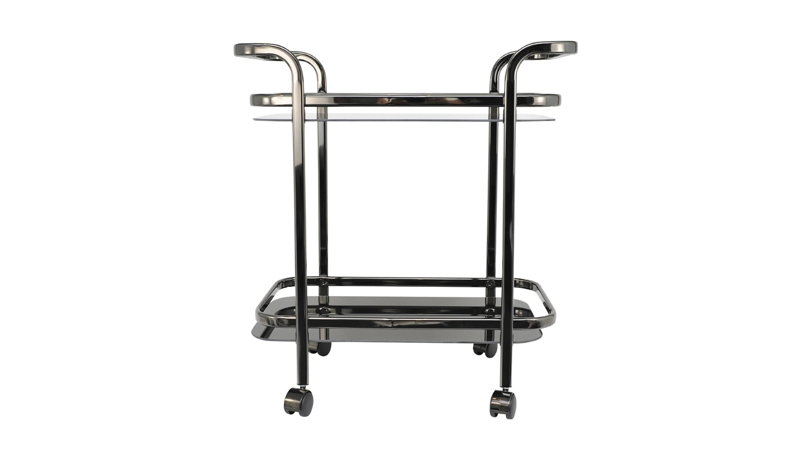 Bloomingdale Nickey & Glass Trist Bar Trolley - Black
