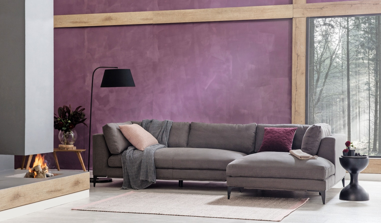 Alara 3 Seater Fabric Sofa with Chaise