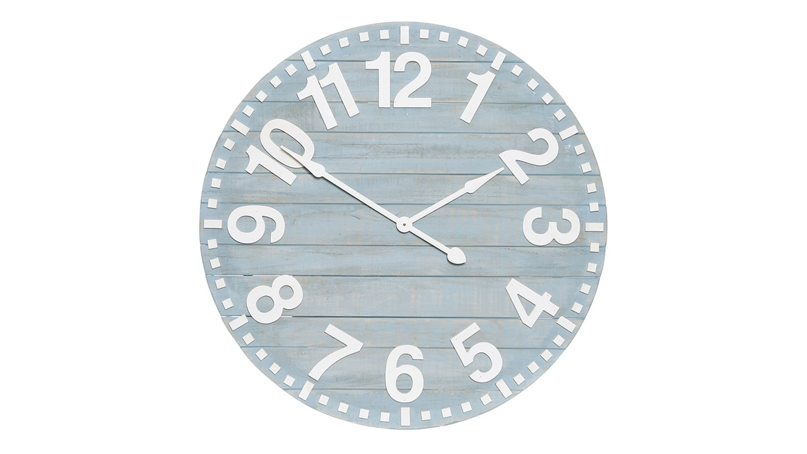 Abbie Timber Wall Clock - Blue