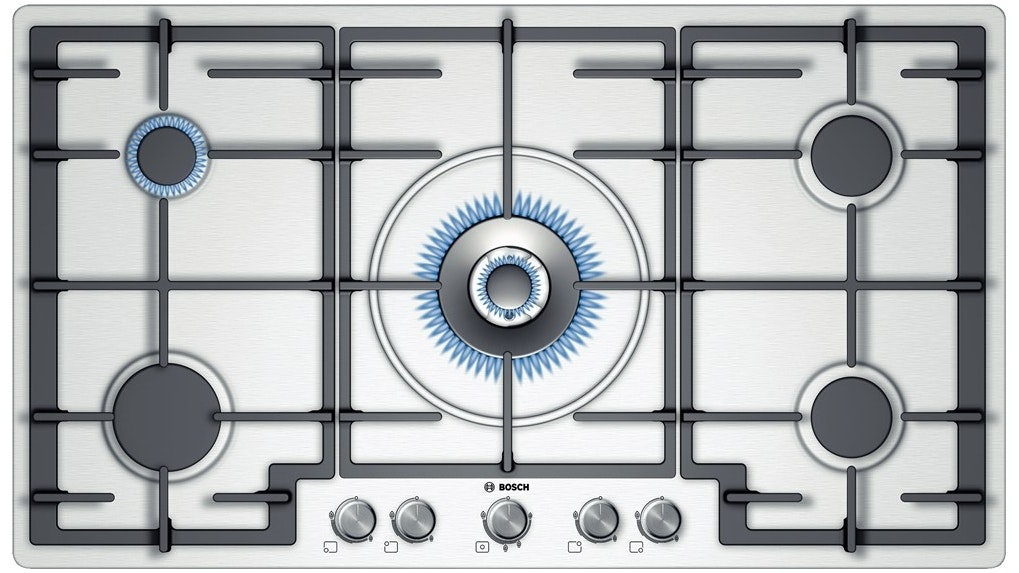 Bosch PCR915B91A 90cm 5 Burner Gas Cooktop