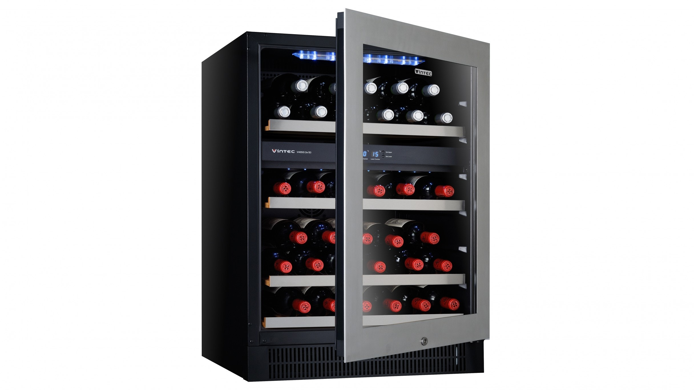 Vintec V40SG2ES3 50 Bottle Two Zone Wine Cabinet