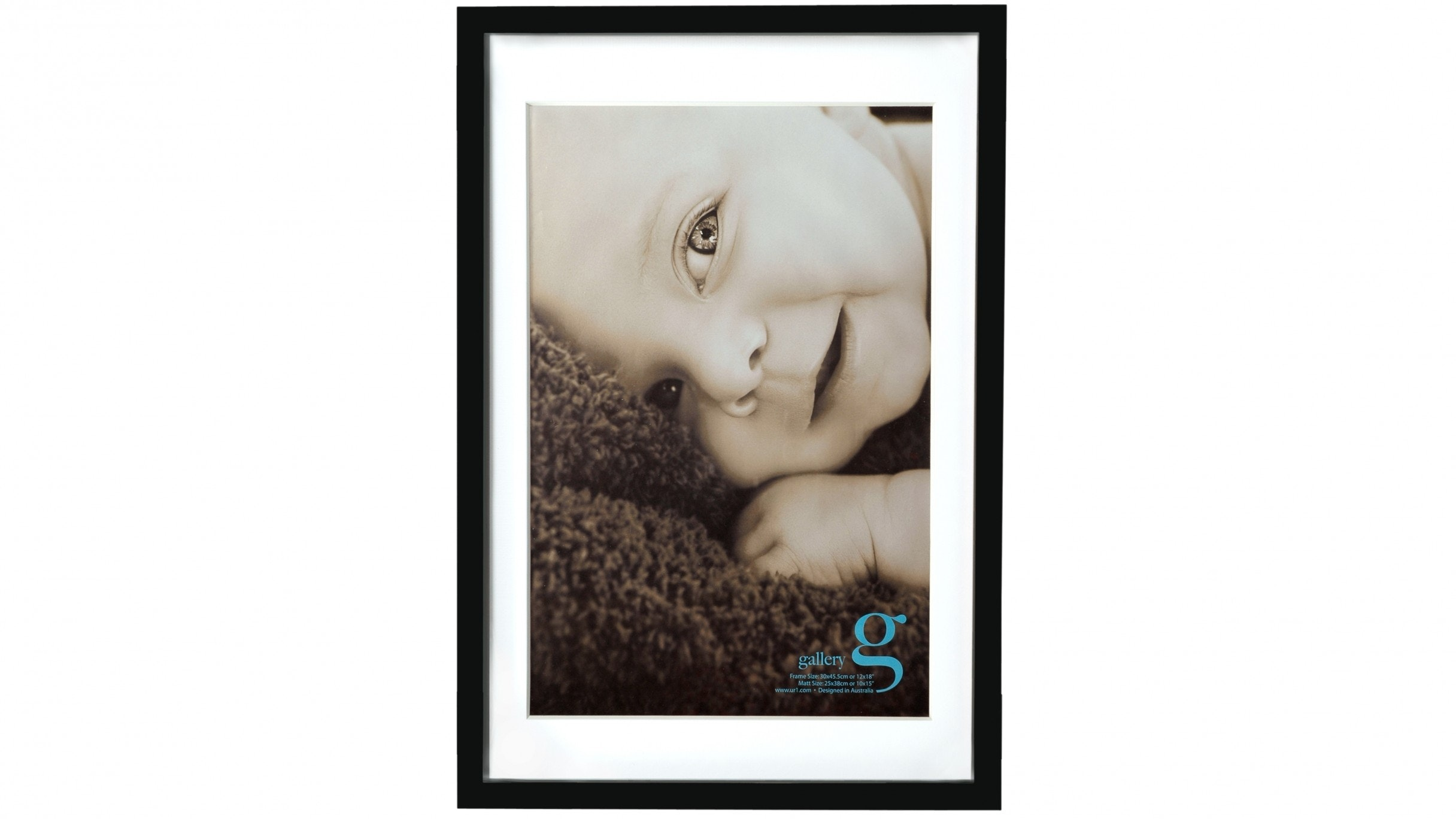 "UR1 Gallery 12""x18"" Photo Frame with 10""x15"" Opening - Black"