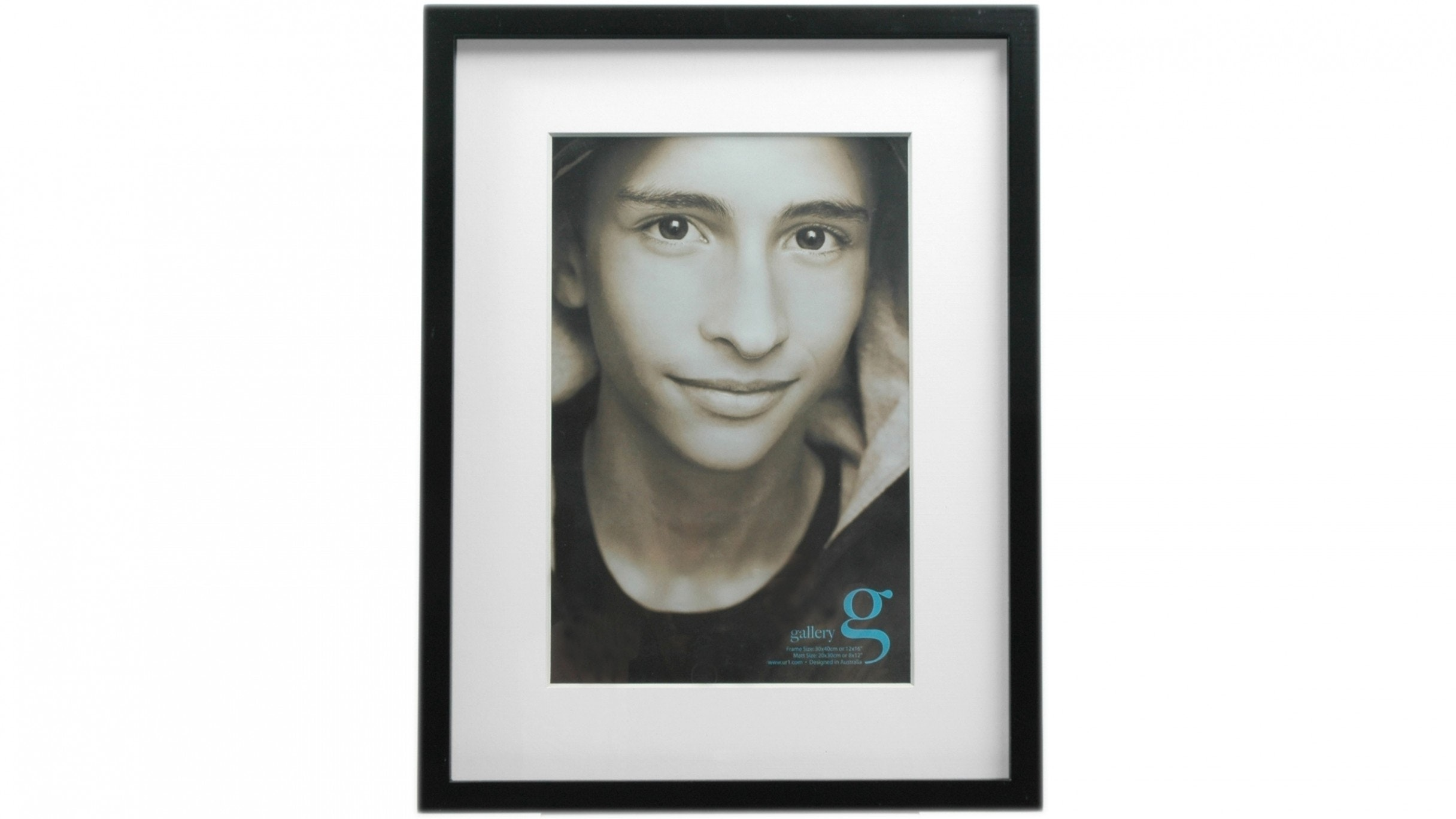 "UR1 Gallery 12""x16"" Photo Frame with 8""x12"" Opening - Black"