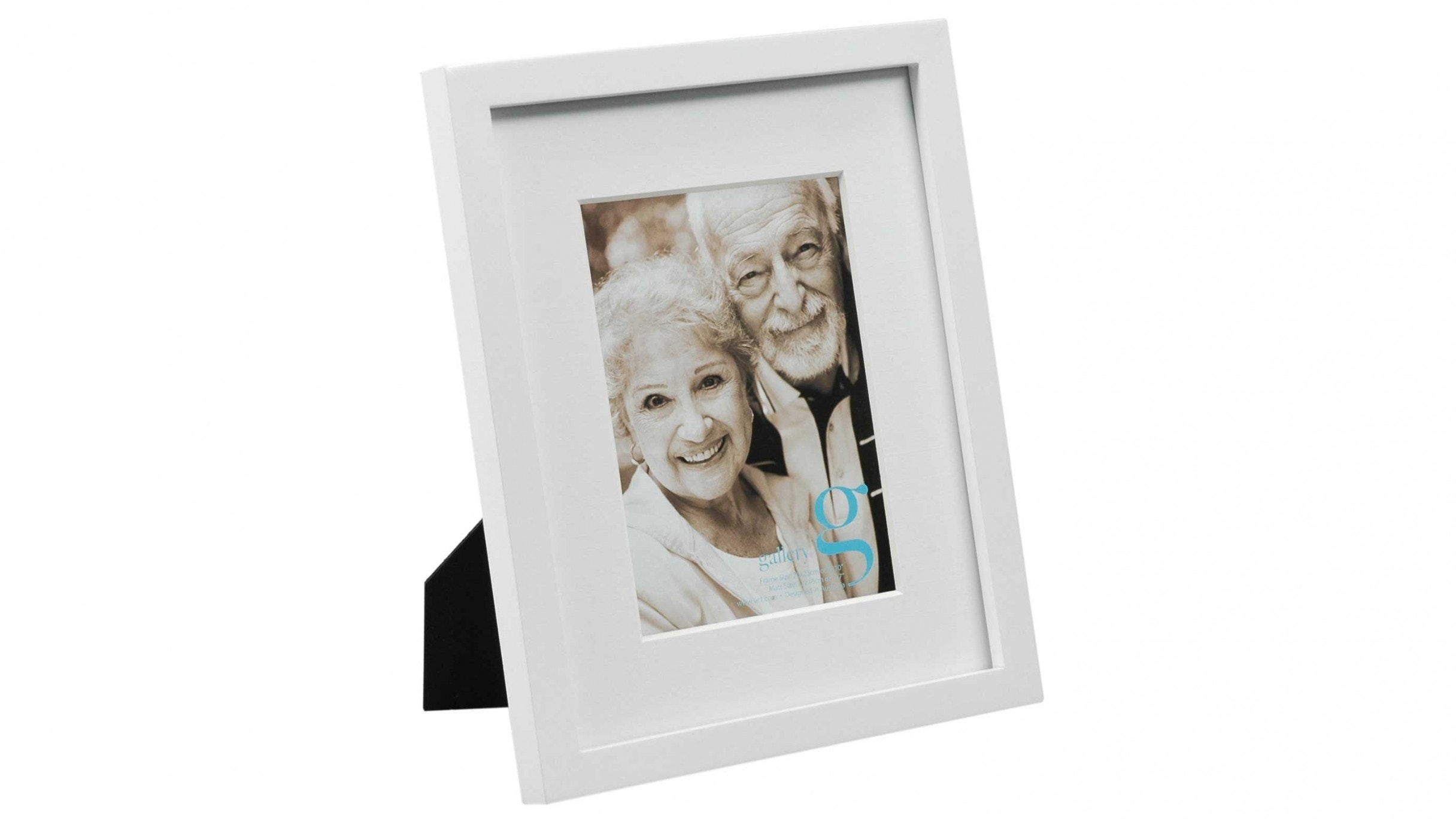 """UR1 Gallery 8""""x10"""" Photo Frame with 5""""x7"""" Opening - White"""