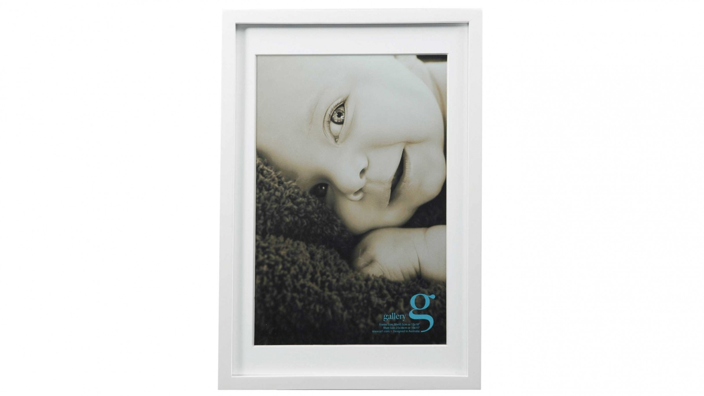 """UR1 Gallery 12""""x18"""" Photo Frame with 10""""x15"""" Opening - White"""