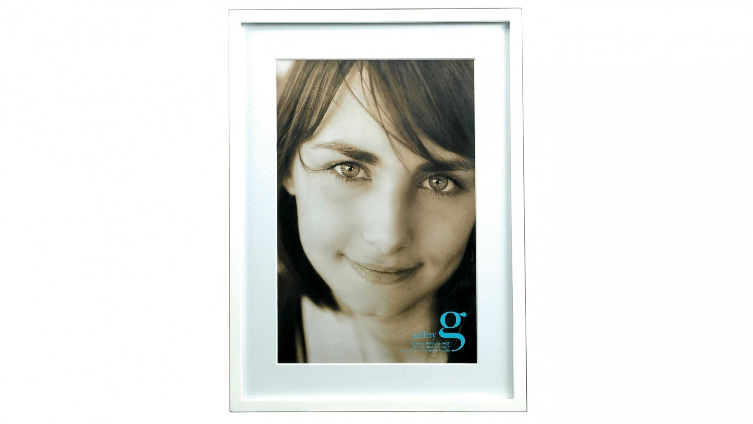 """UR1 Gallery 16""""x22"""" Photo Frame with 12""""x18"""" Opening - White"""