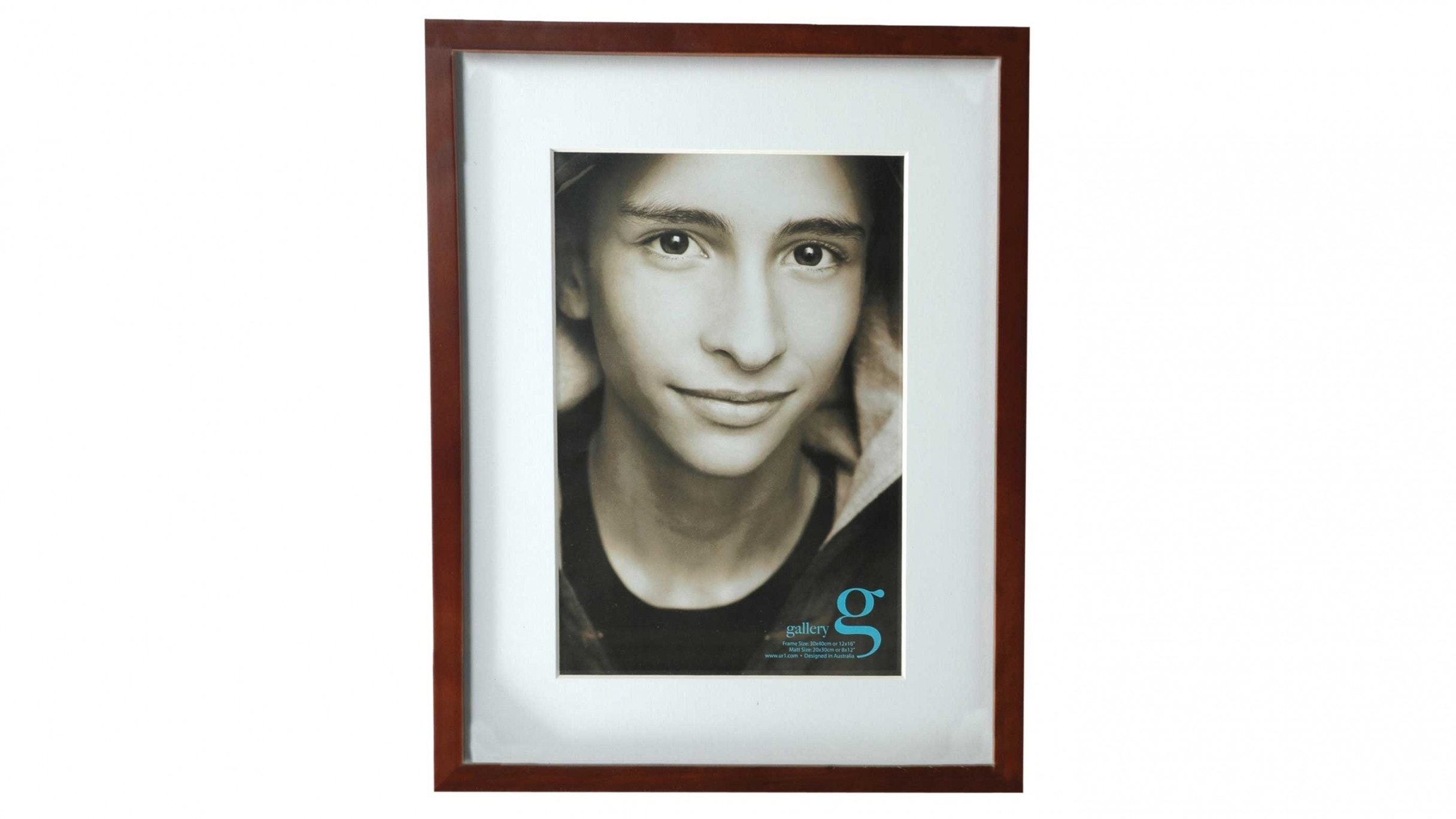 "UR1 Gallery 12""x16"" Photo Frame with 8""x12"" Opening - Walnut"