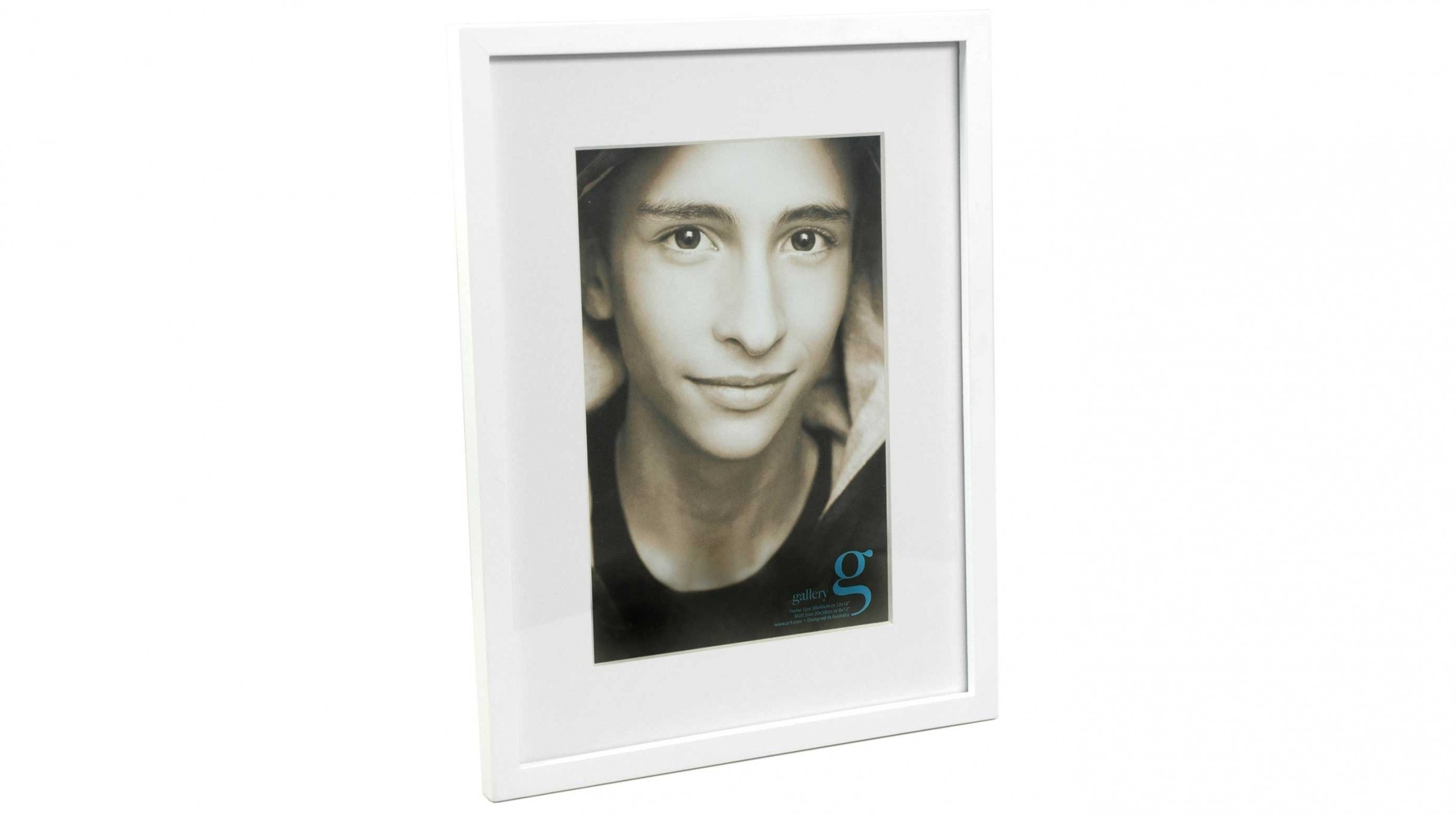 "UR1 Gallery 12""x16"" Photo Frame with 8""x12"" Opening - White"