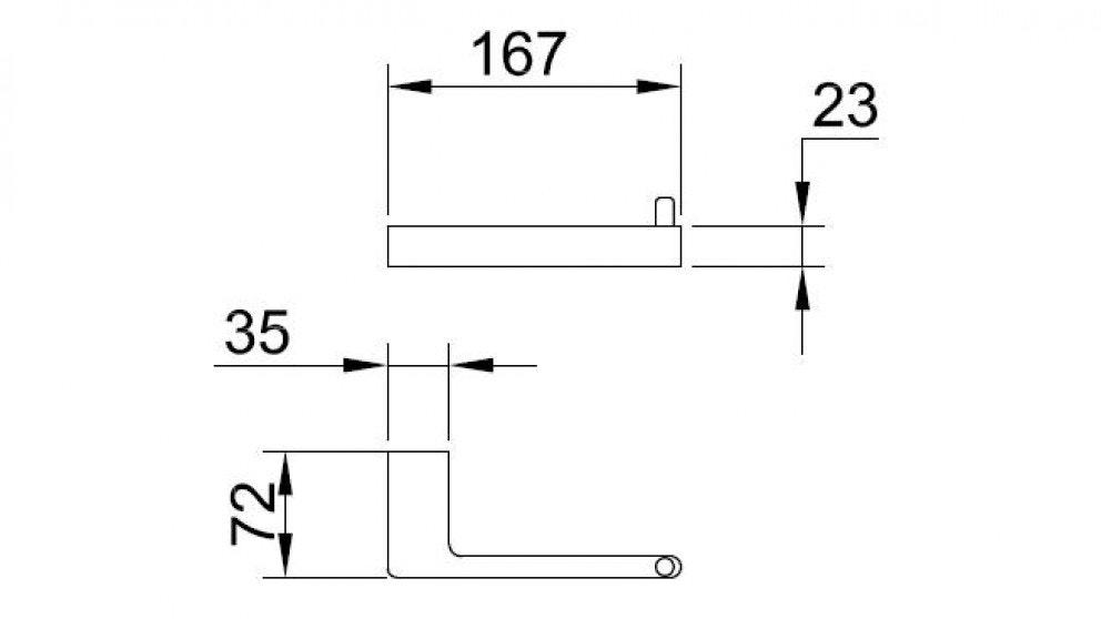 Streamline Eneo Toilet Roll Holder