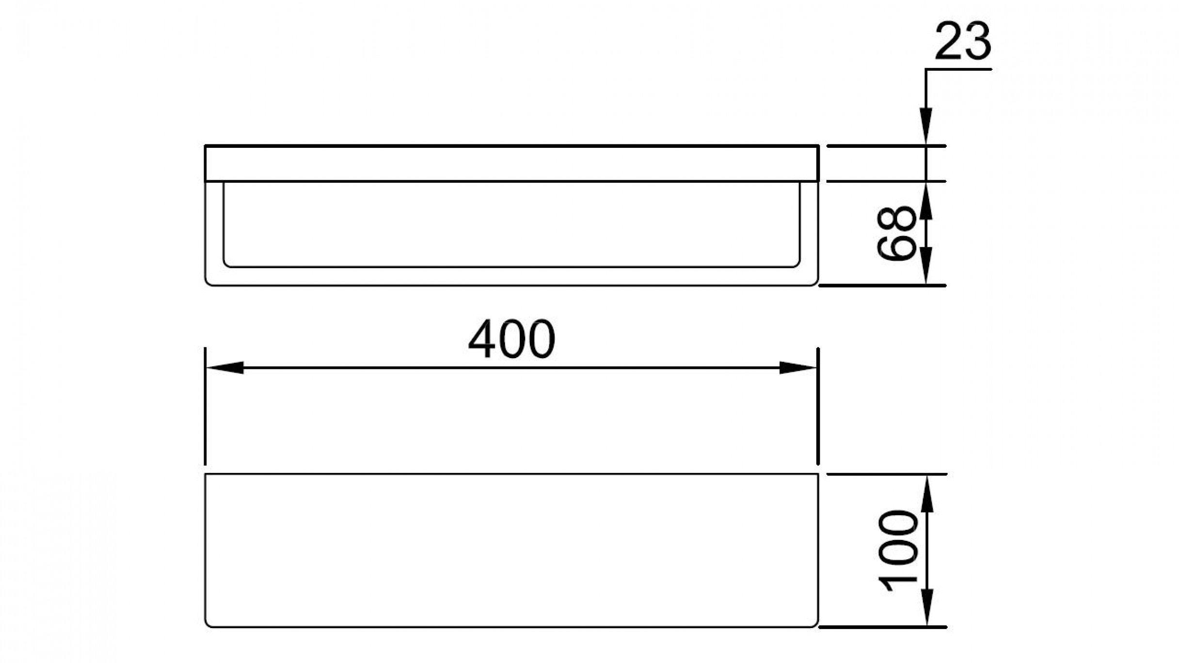 Streamline Eneo 400 Shelf With Towel Rail