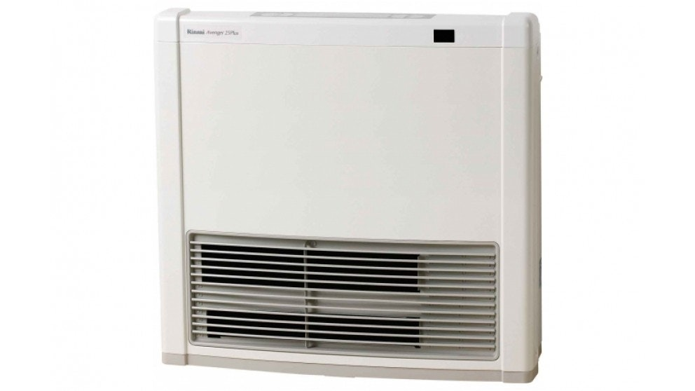 Rinnai Avenger 25Plus Unflued LPG Convector Heater with Electric Boost - White