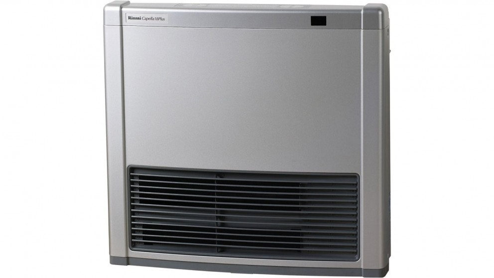 Rinnai Capella 18 Plus Natural Gas Convertor Heater - Platinum Silver