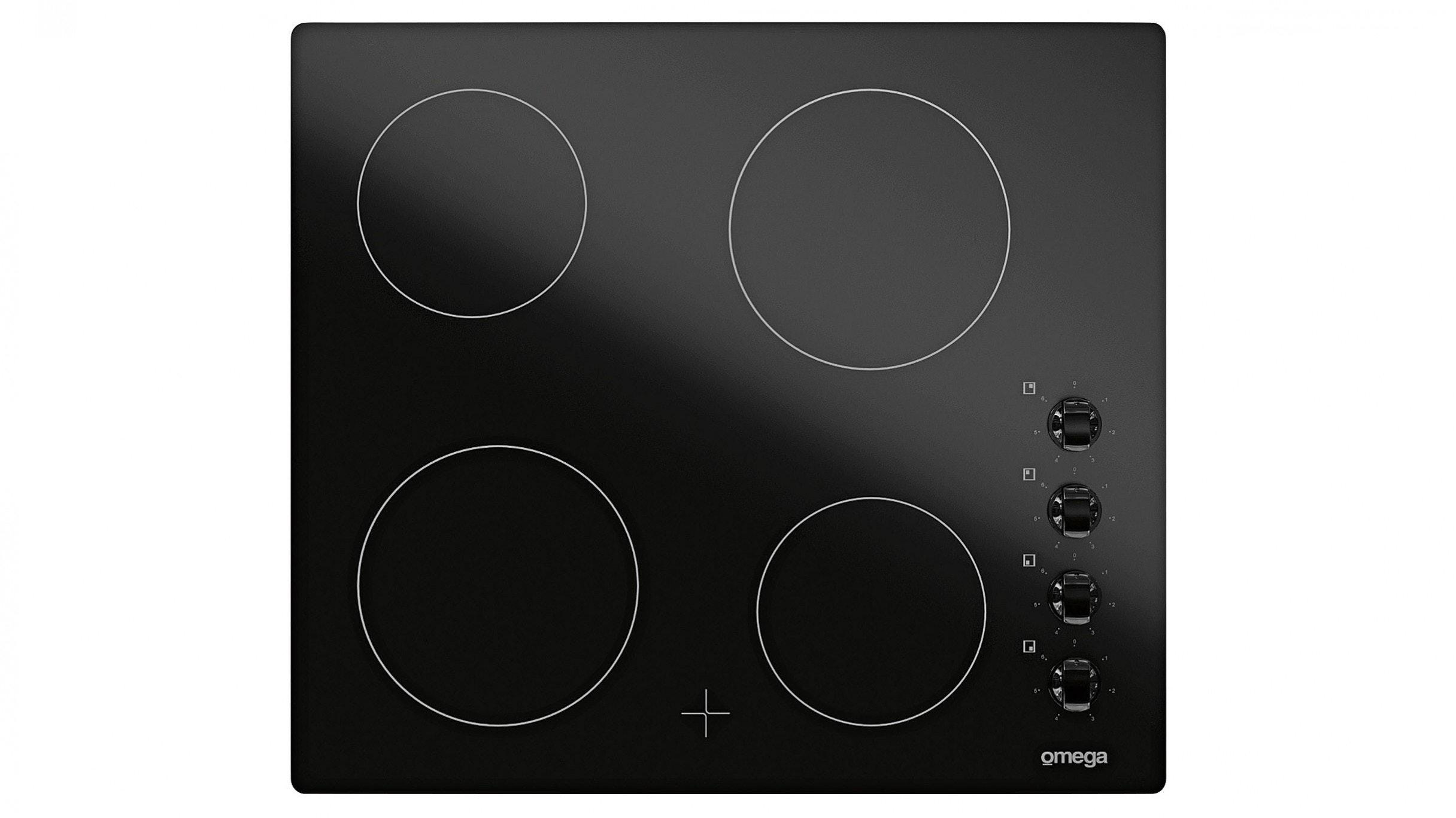 Omega OC64KZ 60cm 4 Burner Ceramic Cooktop