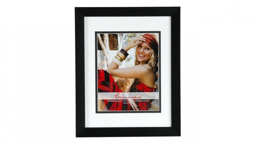 "UR1 Cassandra 11"" x 14"" with 8"" x 10"" Opening Photo Frame - Black"