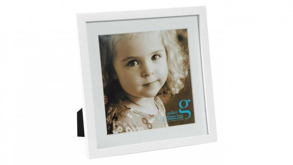 "UR1 Gallery 10""x 10"" with 8""x 8"" Opening Photo Frame - White"