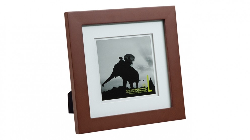 "UR1 Life 9"" x 9"" with 6"" x 6"" Opening Photo Frame - Mocha"