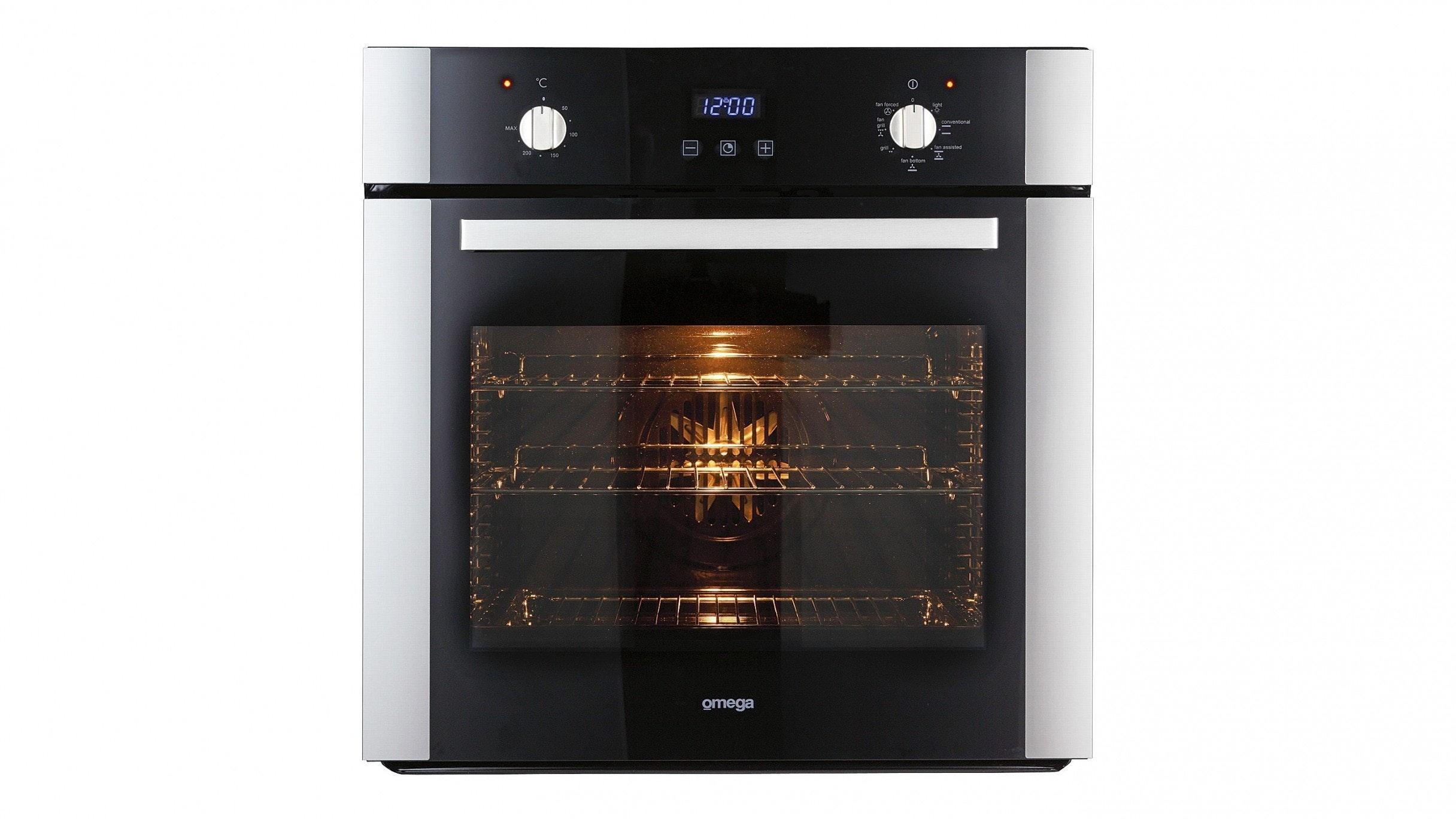 Omega OO687X 60cm 7 Function Triple Glazed Oven