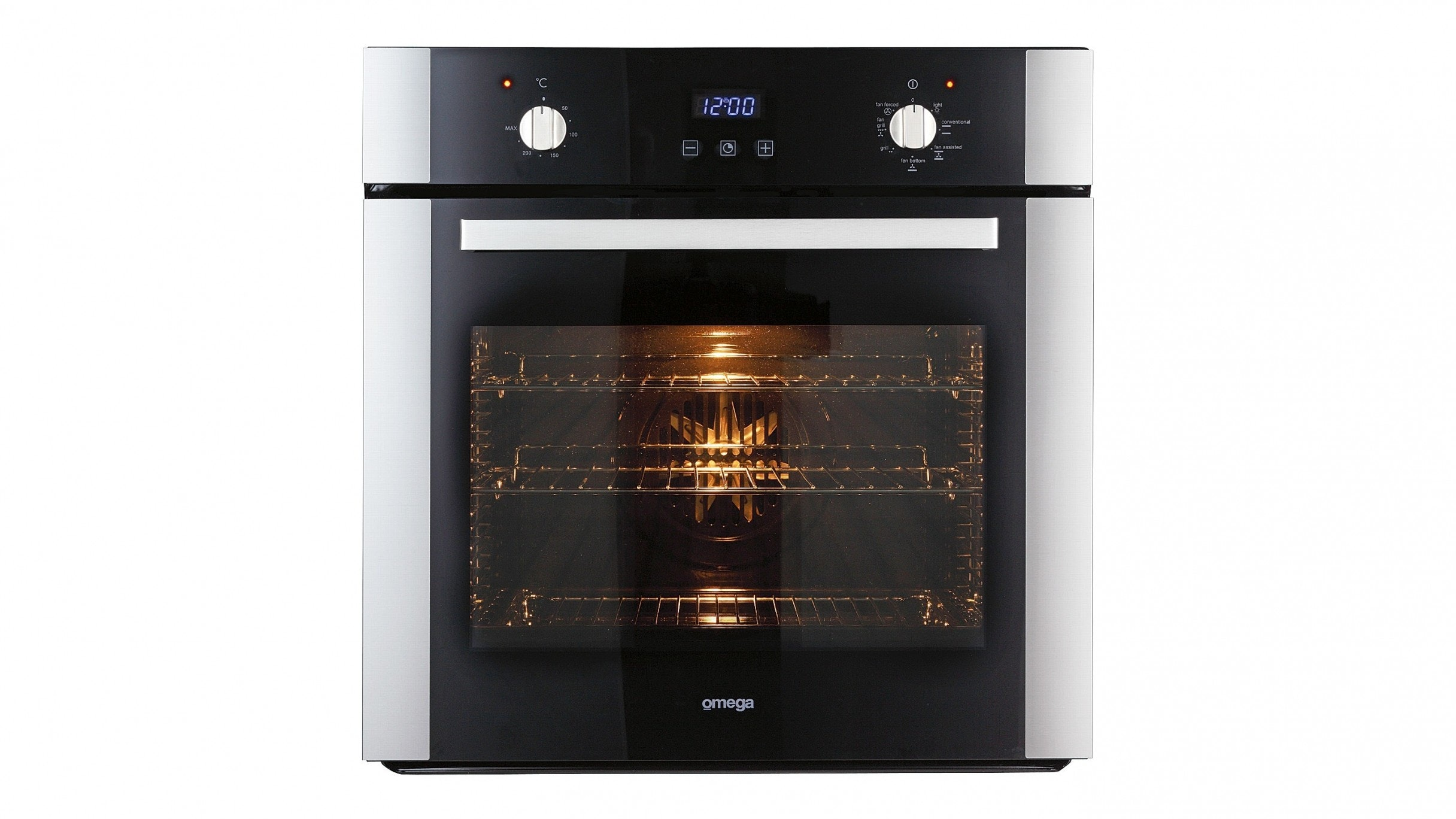 Omega OO687X 60cm 7 Function Triple Glazed Oven